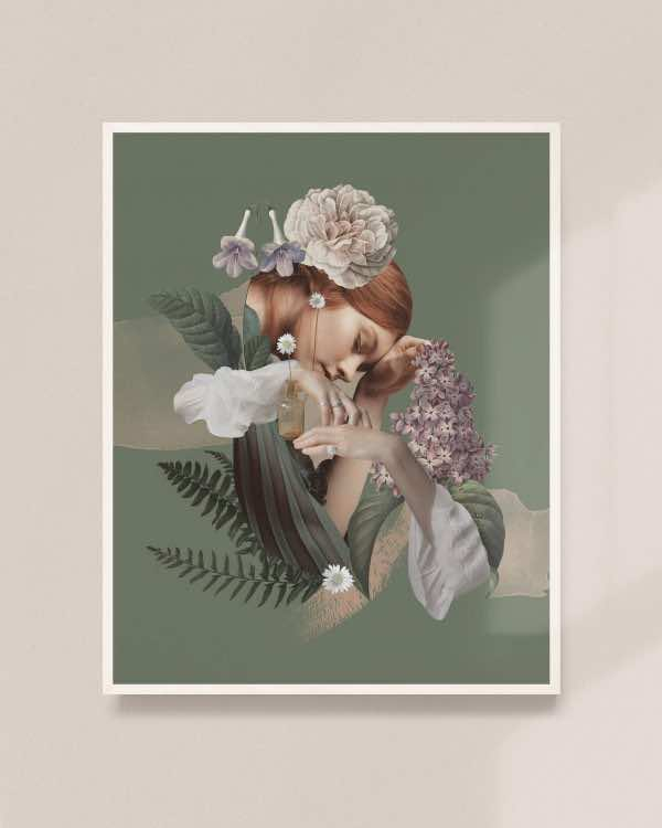 Flora (edycja limitowana) Mokave x Liquid memory collages