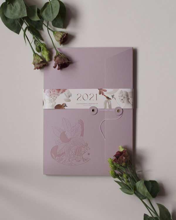 Kalendarz 2021 • Tender heart began to sparkle • Gentle Rose