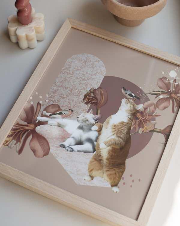 Oh Cats! – RAMKA – 26×31 cm